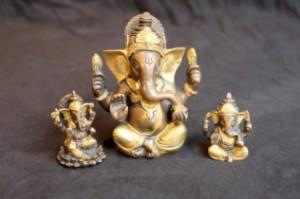 Ganesha twee kleuren brons