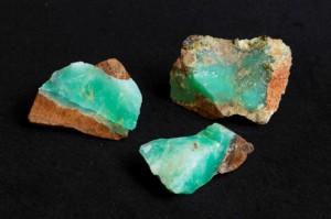 Opaal, groene opaal ruw